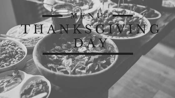 Thanksgiving Day Menu