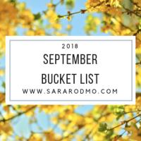 September Bucket List